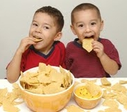 Kids enjoying Honest Potato Chips