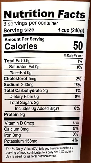 Frontier Blend Broth Nutrition Facts